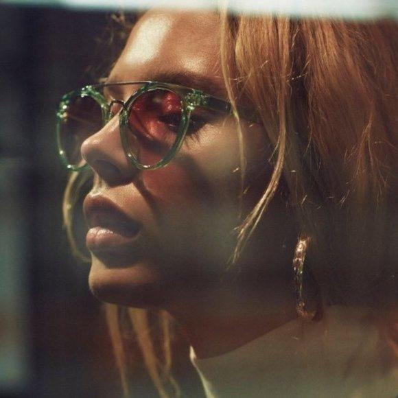 Free People Love Is Blind Aviator Green Sunglasses